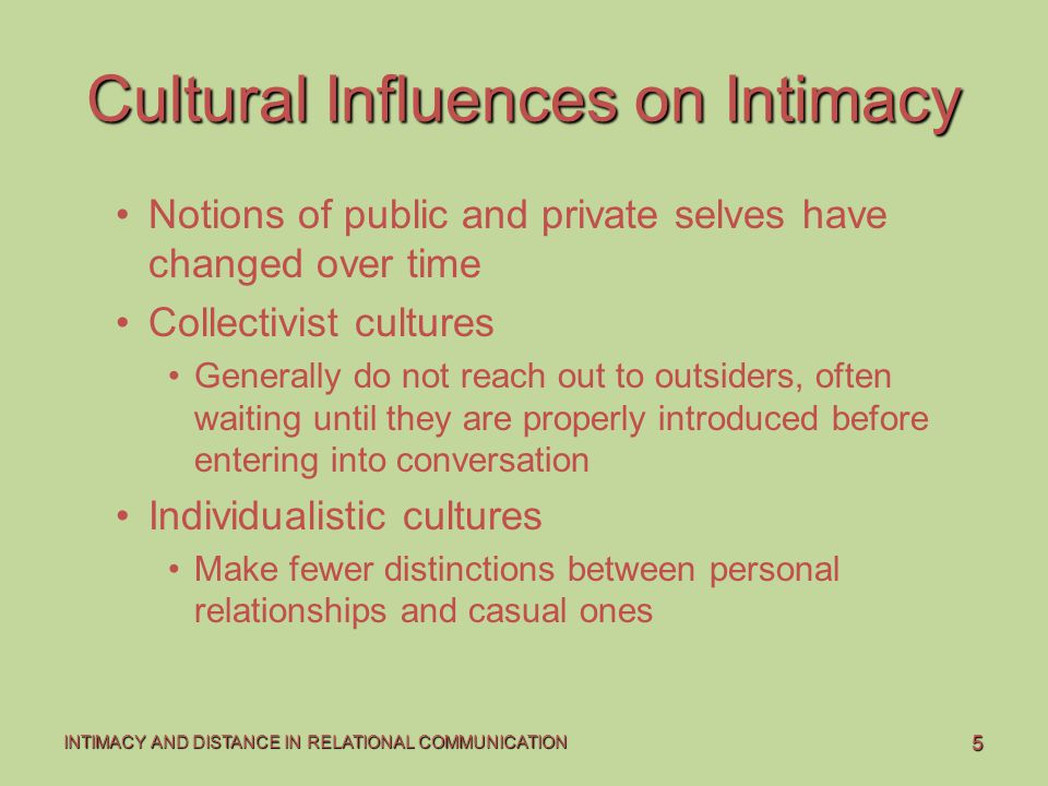 Cultural Influences on Intimacy