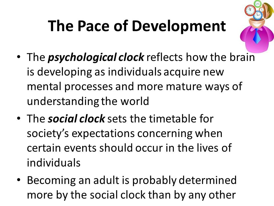 The Pace of Development