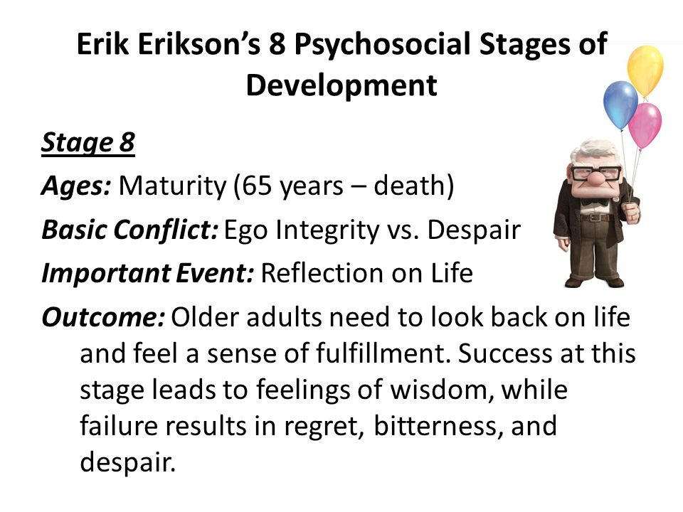 Erik Erikson's 8 Psychosocial Stages of Development