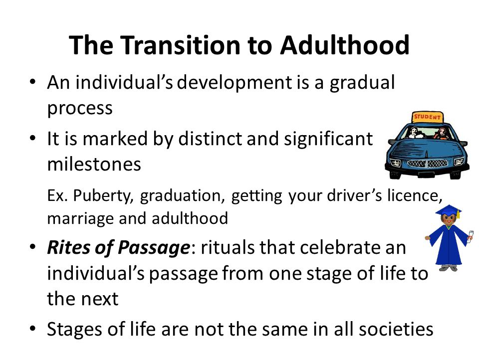 The Transition to Adulthood