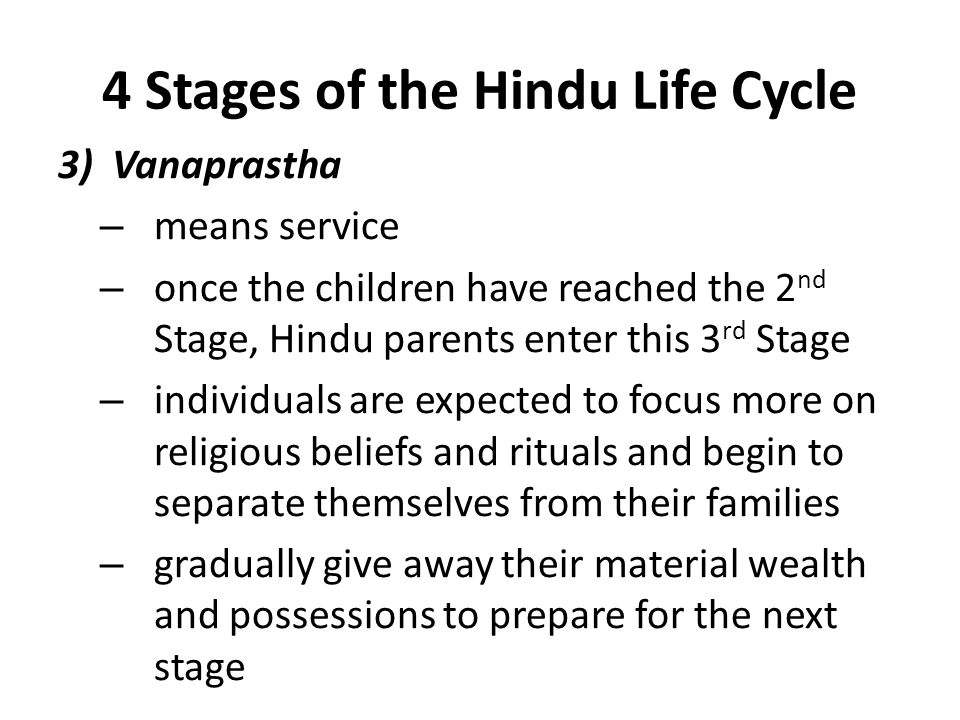 4 Stages of the Hindu Life Cycle