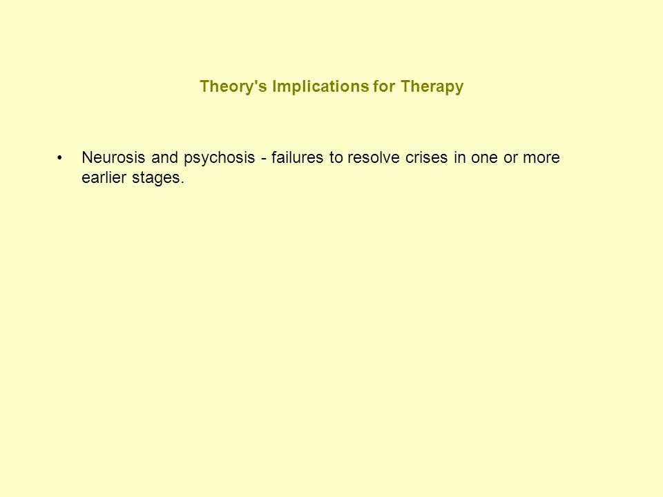 Theory s Implications for Therapy