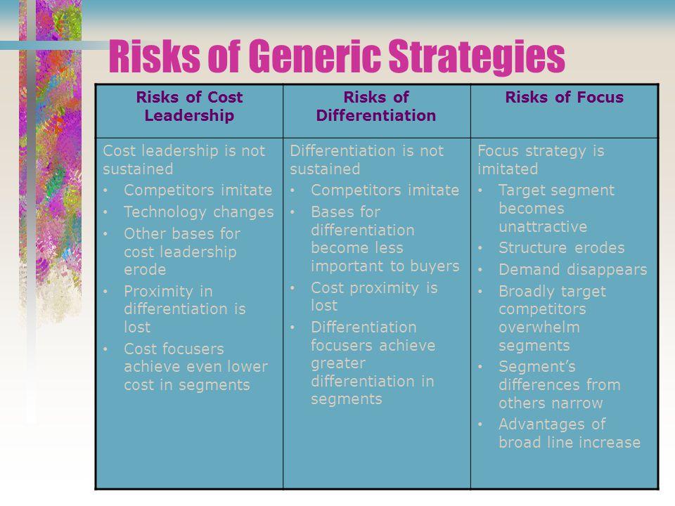 Risks of Generic Strategies