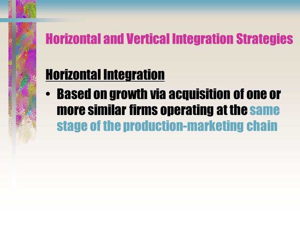 Horizontal and Vertical Integration Strategies