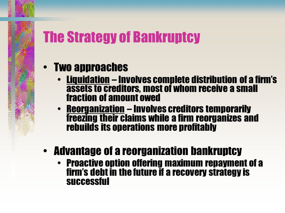 The Strategy of Bankruptcy