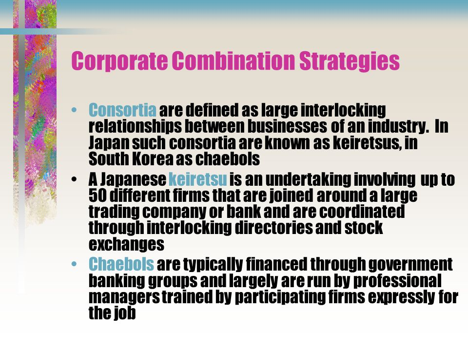 Corporate Combination Strategies