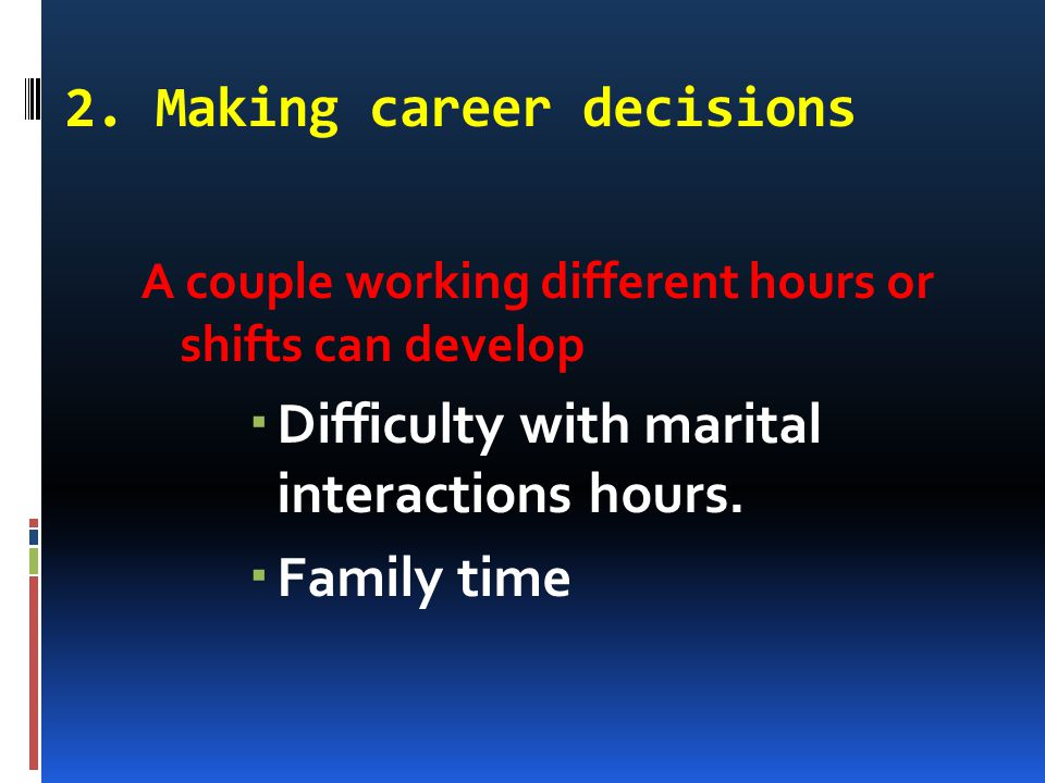 2. Making career decisions