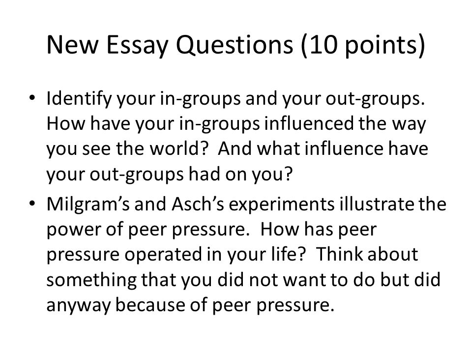 5 paragraph essay on peer pressure