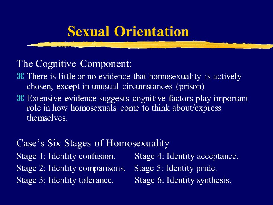 Sexual Orientation The Cognitive Component: