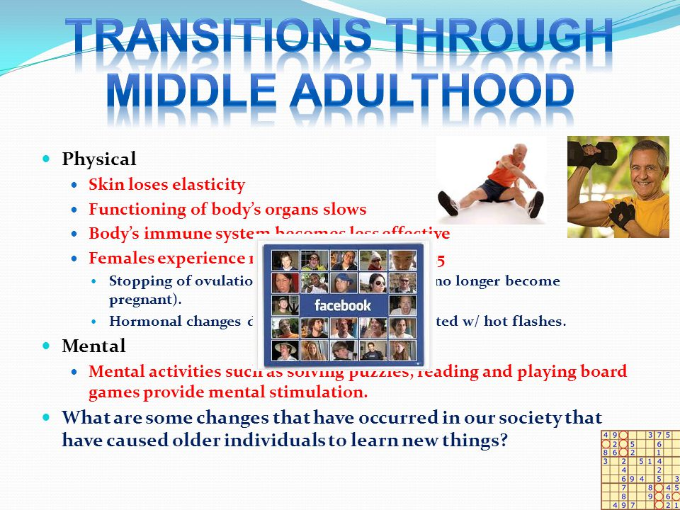 TRANSITIONS THROUGH MIDDLE ADULTHOOD