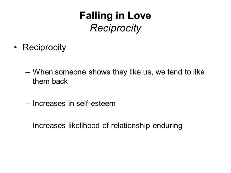 Falling in Love Reciprocity