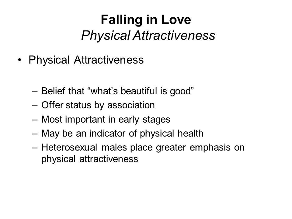Falling in Love Physical Attractiveness
