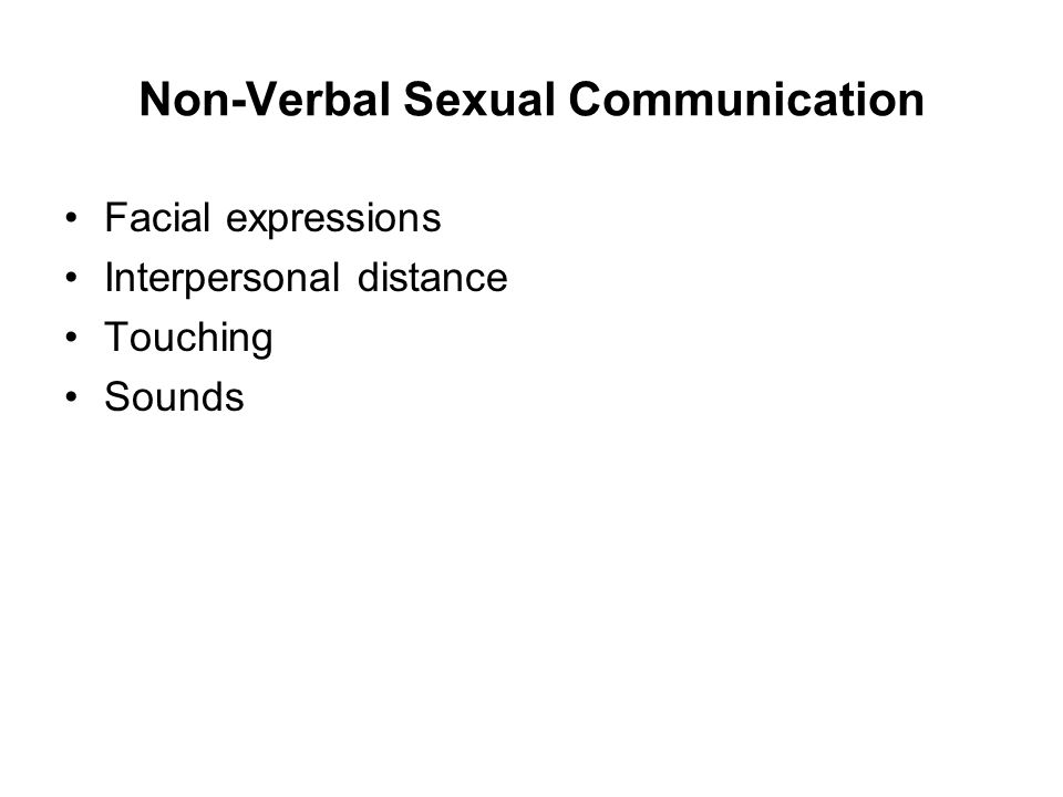 Non-Verbal Sexual Communication