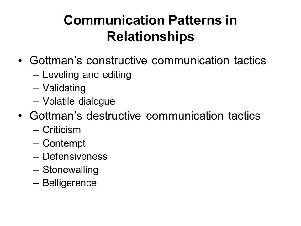 Communication Patterns in Relationships