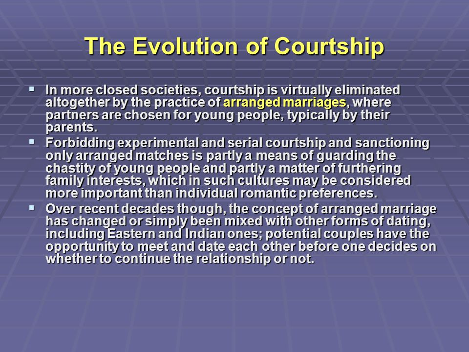 The Evolution of Courtship