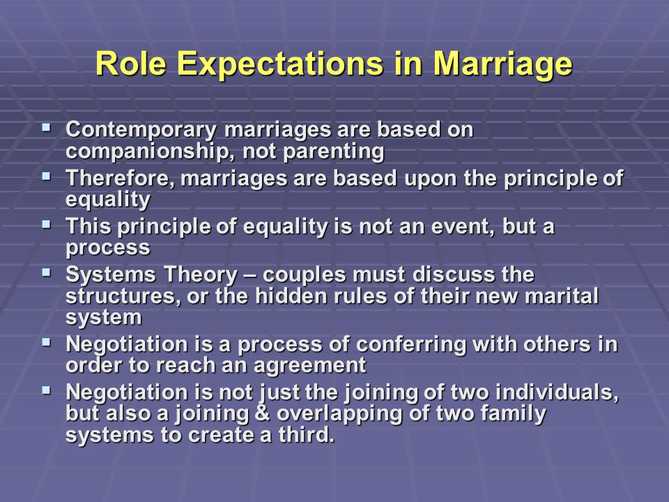 Role Expectations in Marriage