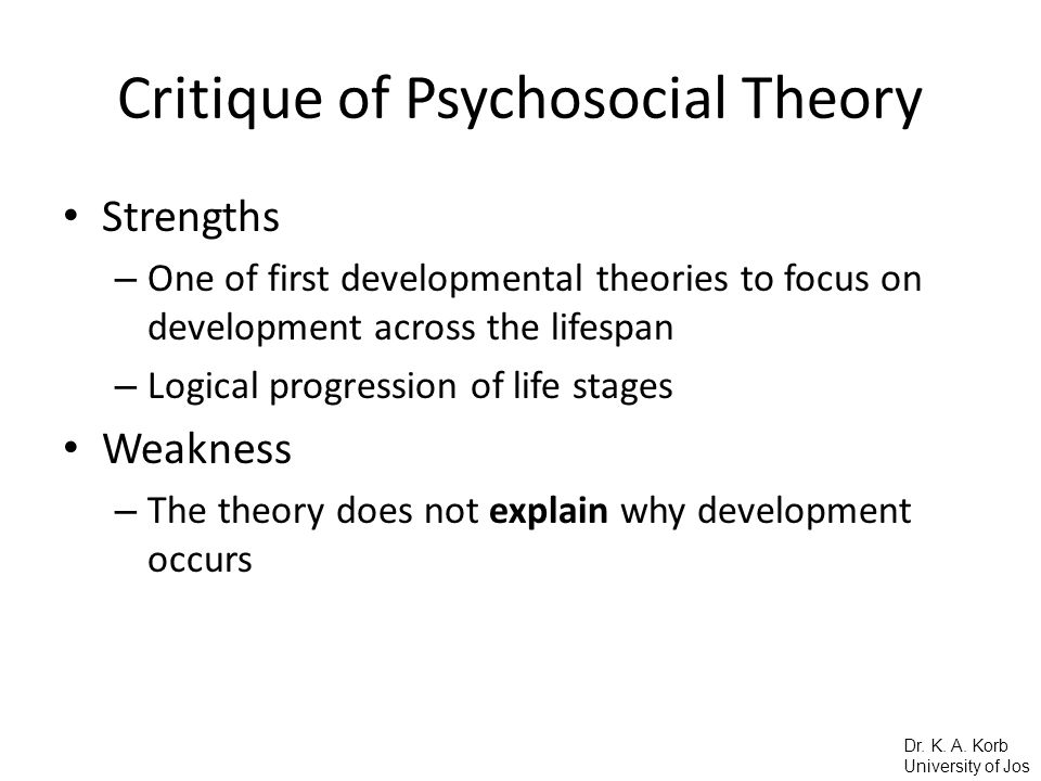 Critique of Psychosocial Theory