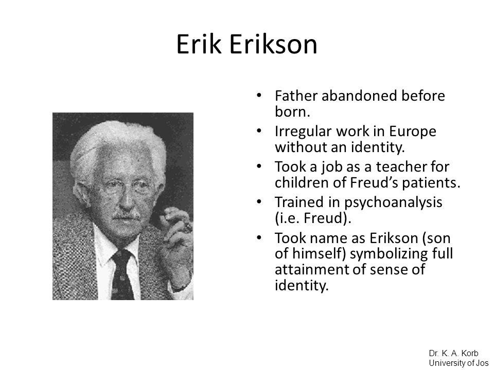 Erik Erikson Father abandoned before born.