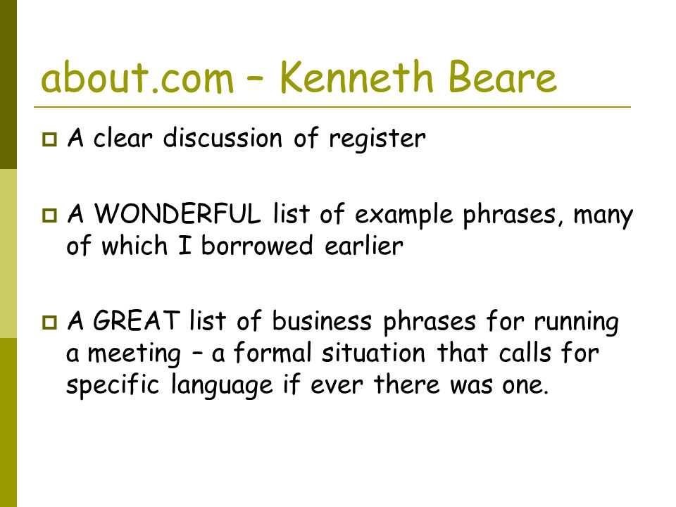 about.com – Kenneth Beare