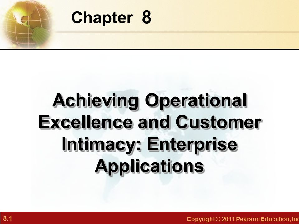 Chapter 8 Achieving Operational Excellence and Customer Intimacy: Enterprise Applications