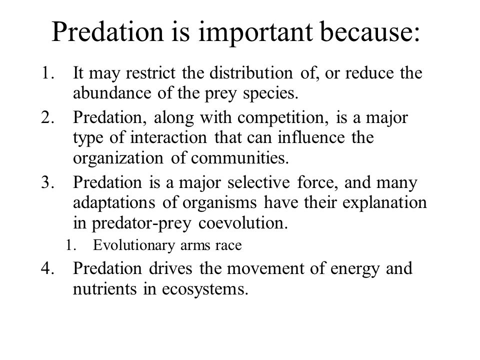Predation is important because: