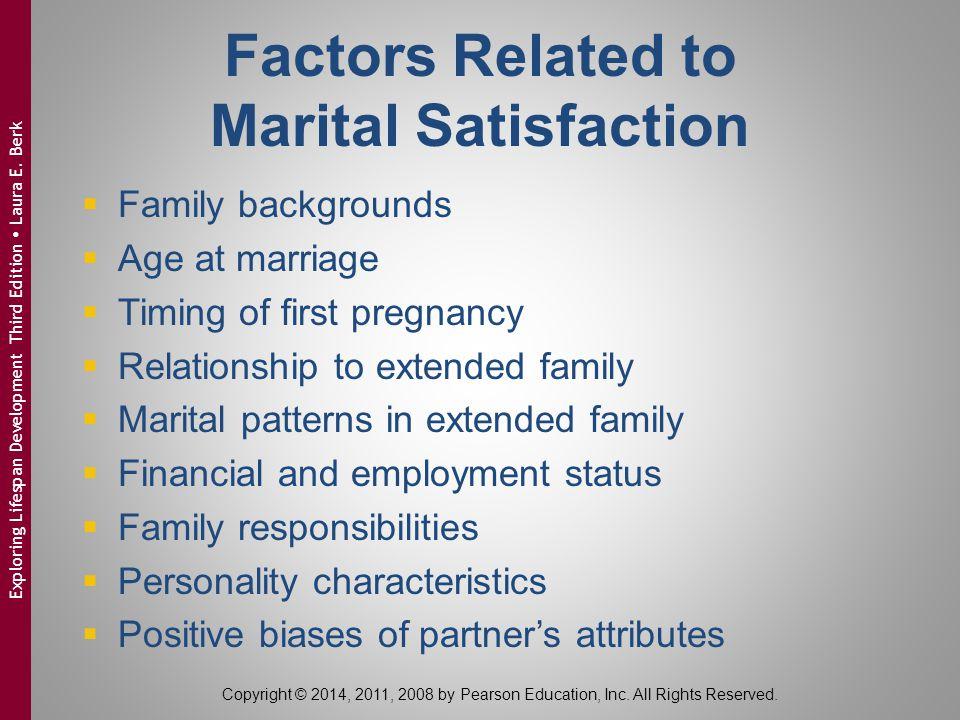 Factors Related to Marital Satisfaction