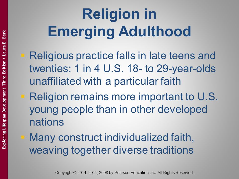 Religion in Emerging Adulthood