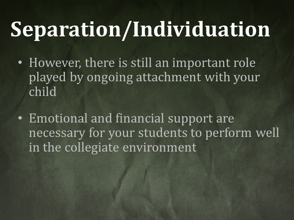 Separation/Individuation