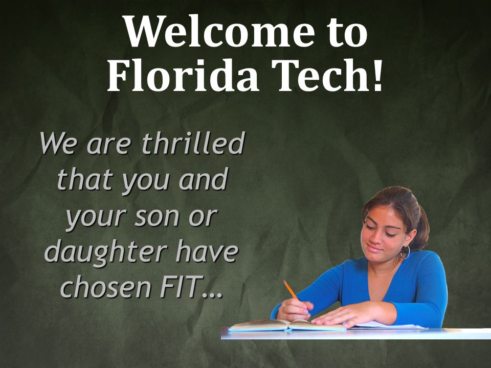 Welcome to Florida Tech!