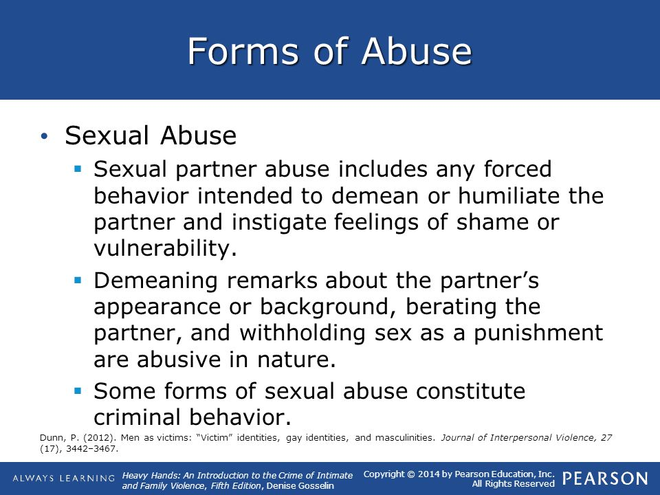 Forms of Abuse Sexual Abuse