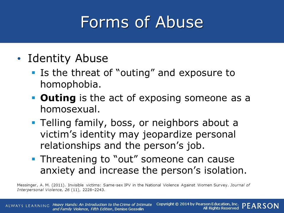 Forms of Abuse Identity Abuse