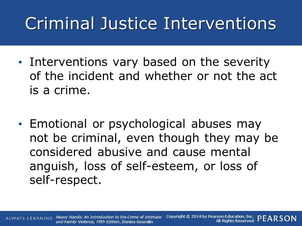 Criminal Justice Interventions