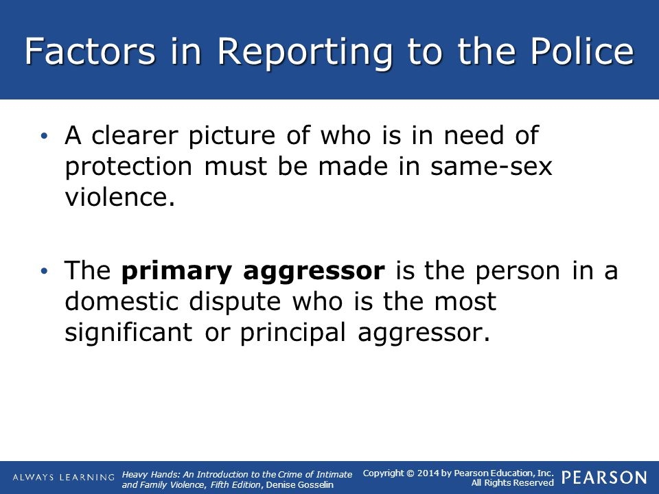 Factors in Reporting to the Police