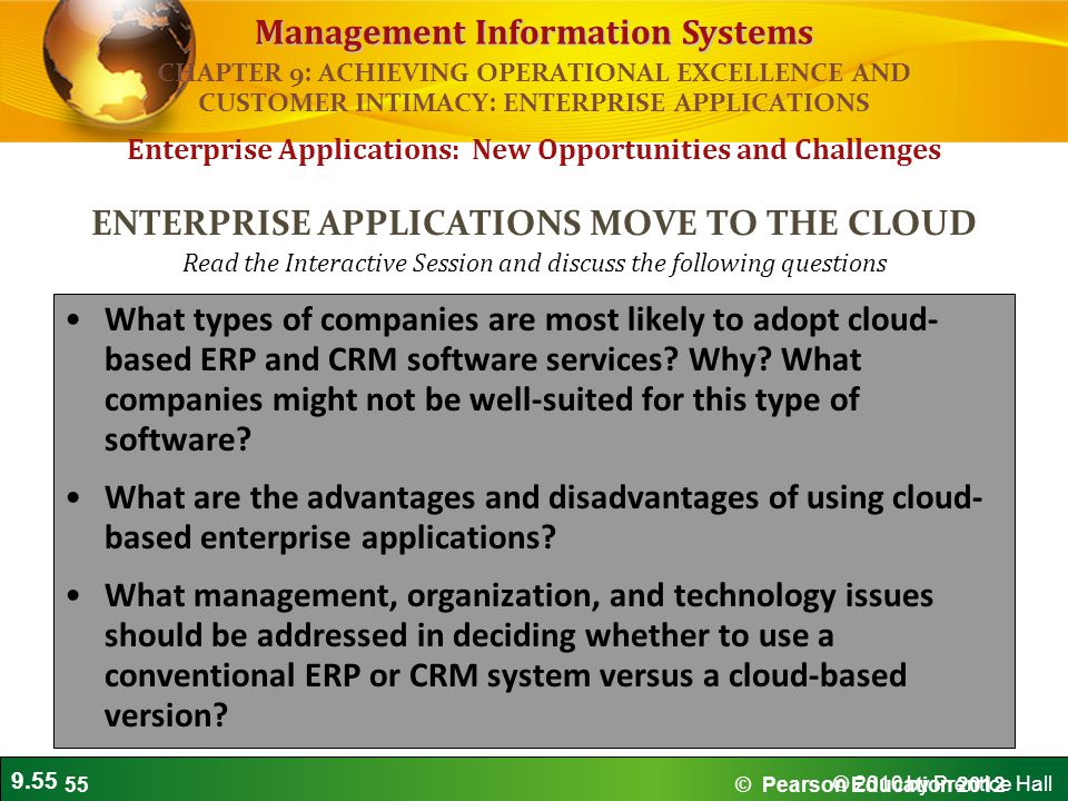 ENTERPRISE APPLICATIONS MOVE TO THE CLOUD