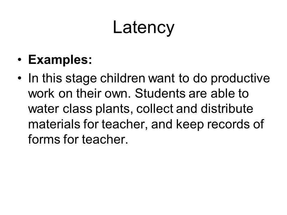 Latency Examples: