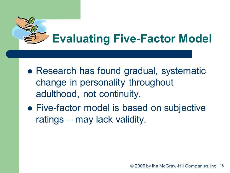 Evaluating Five-Factor Model