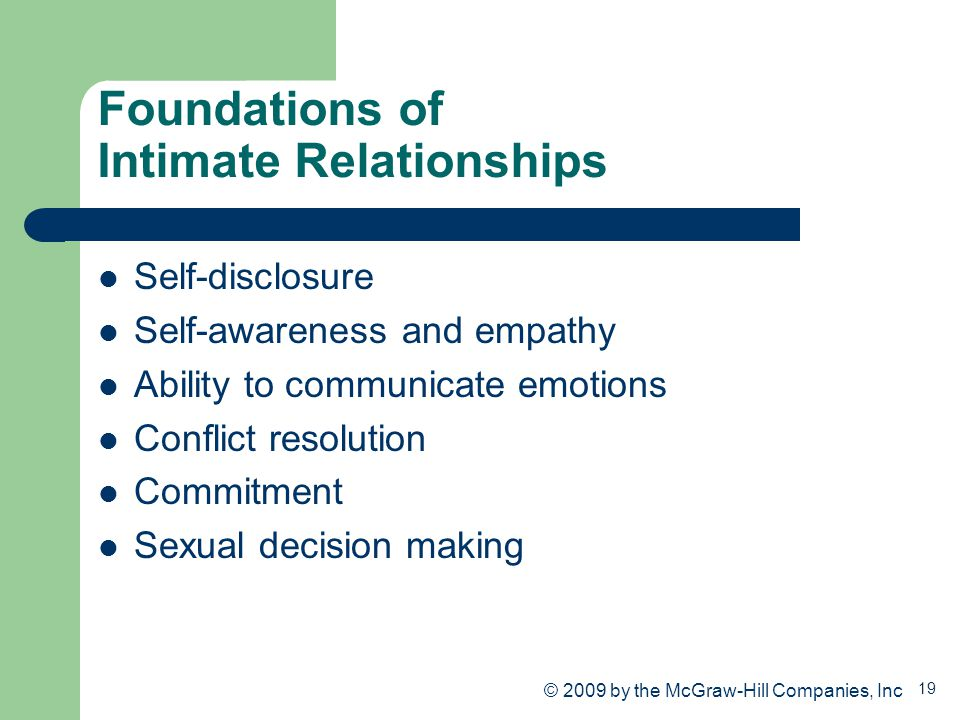 Foundations of Intimate Relationships