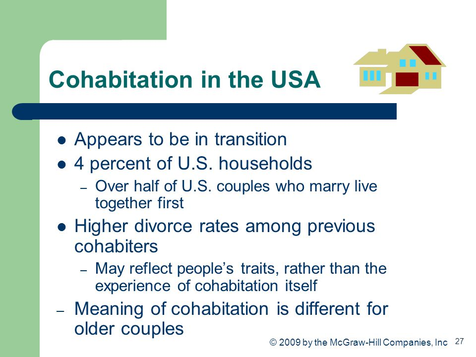 Cohabitation in the USA