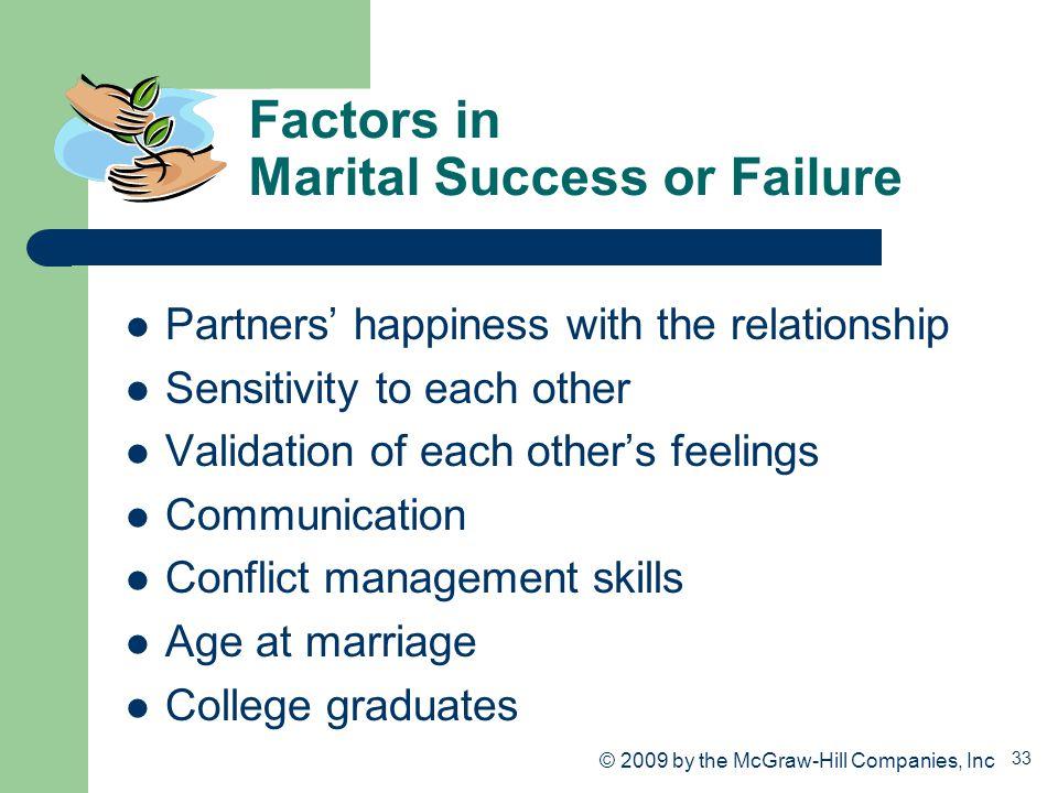 Factors in Marital Success or Failure