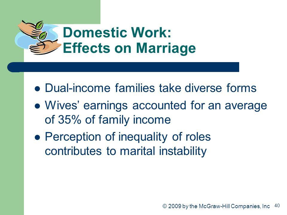 Domestic Work: Effects on Marriage