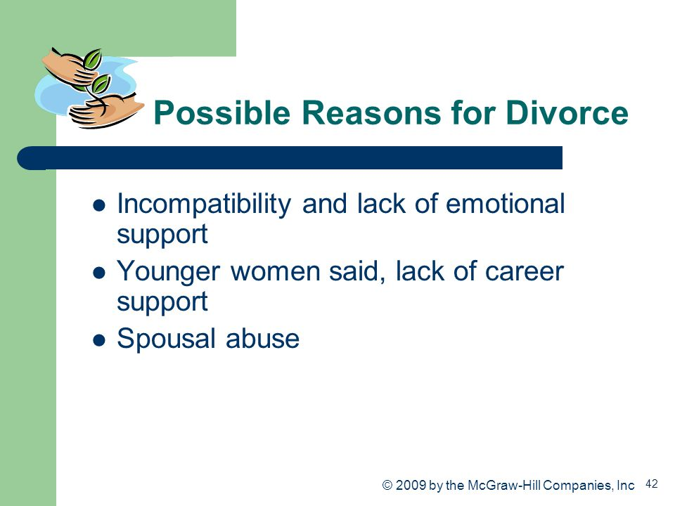 Possible Reasons for Divorce