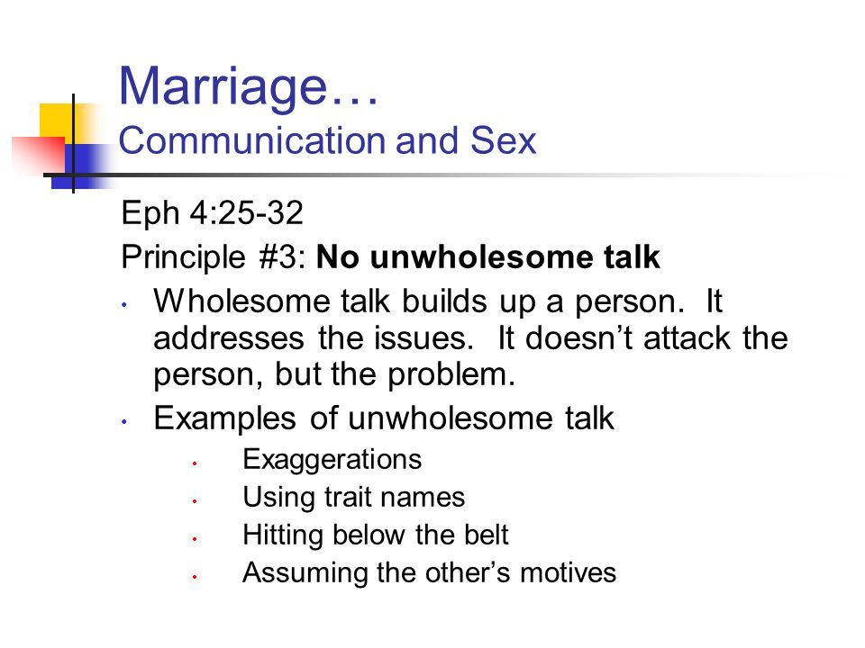 Communication And Sex 27