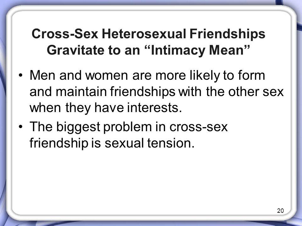 Cross-Sex Heterosexual Friendships Gravitate to an Intimacy Mean