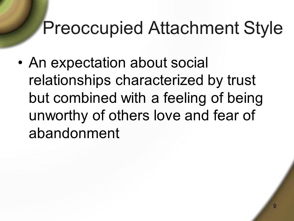 Preoccupied Attachment Style