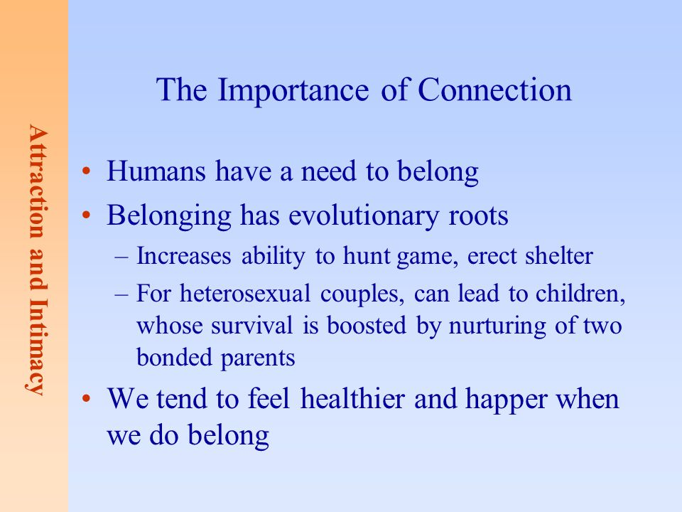 The Importance of Connection