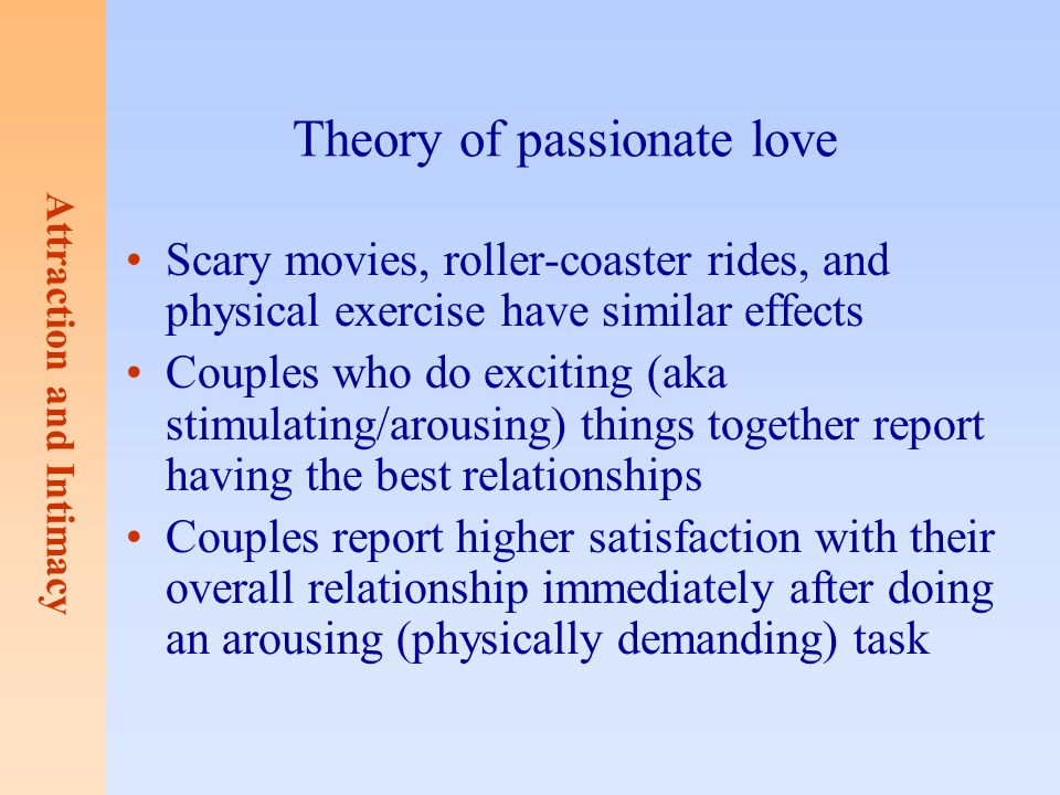 Theory of passionate love