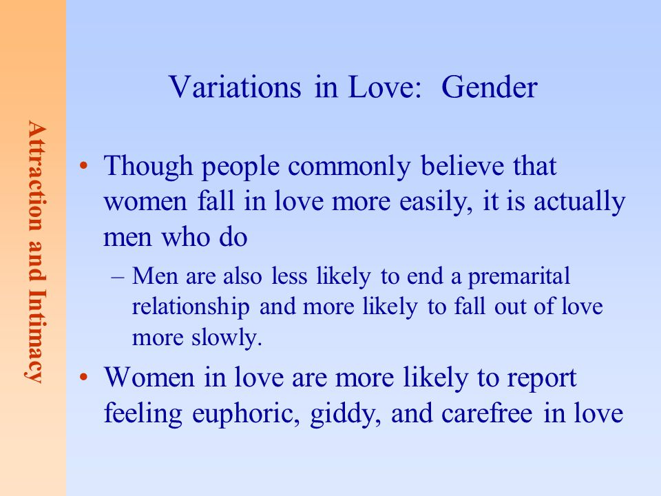 Variations in Love: Gender
