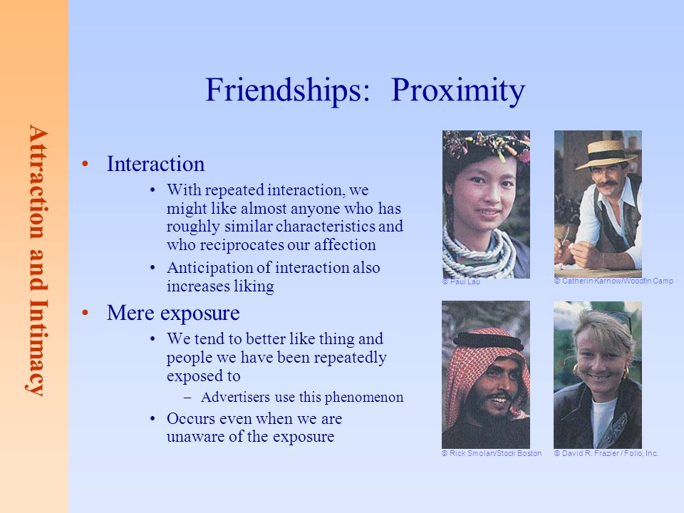 Friendships: Proximity
