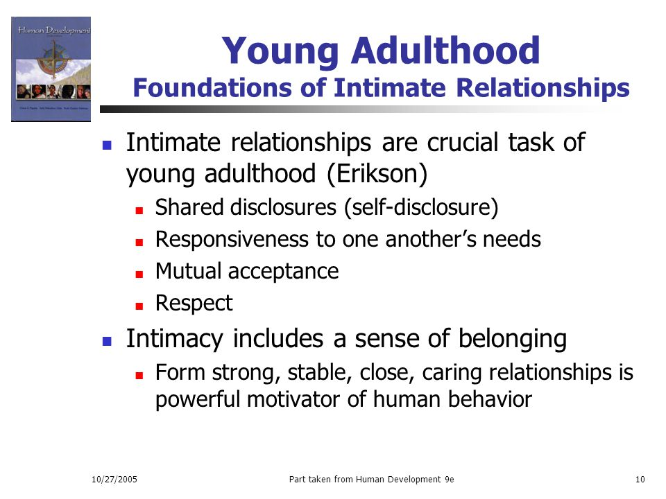 Young Adulthood Foundations of Intimate Relationships