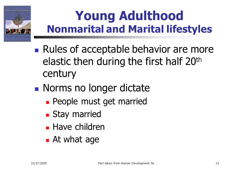 Young Adulthood Nonmarital and Marital lifestyles